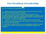 vice president of leadership