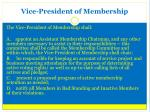 vice president of membership