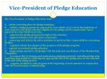 vice president of pledge education