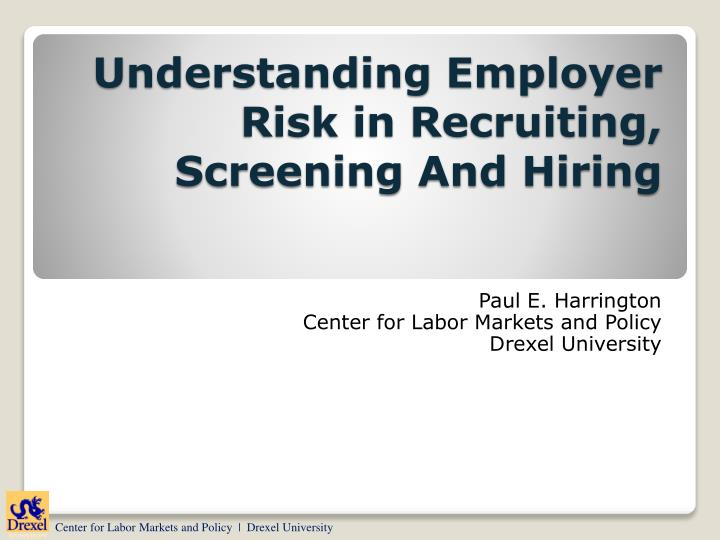 understanding employer risk in recruiting screening and hiring n.