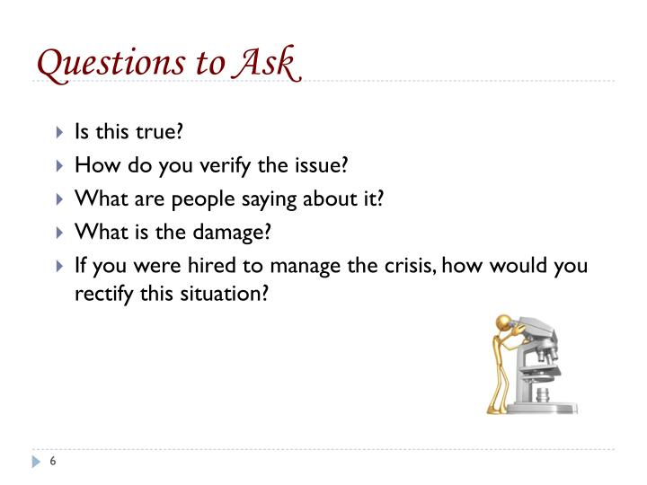 Questions to