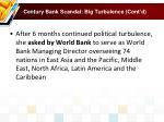 century bank scandal big turbulence cont d