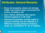 attributes general remarks