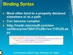 binding syntax