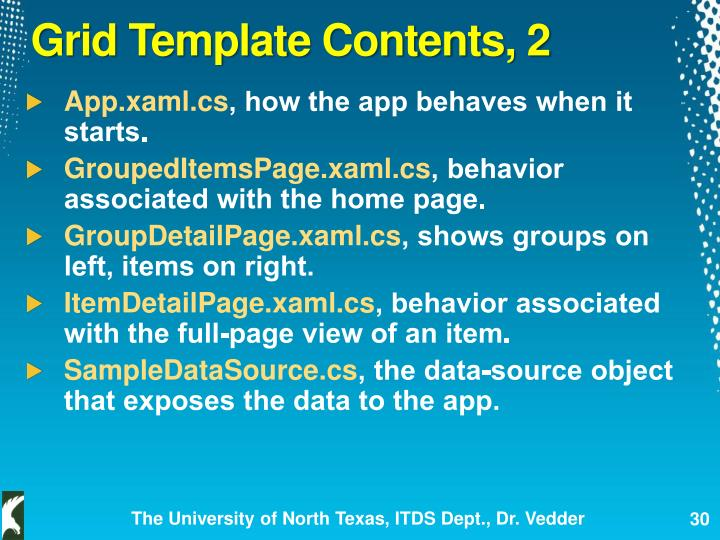 Grid Template Contents, 2