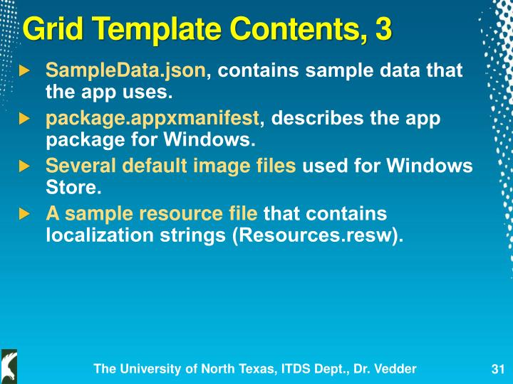 Grid Template Contents, 3