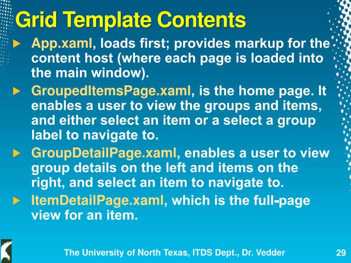 Grid Template Contents