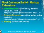 most common built in markup extensions