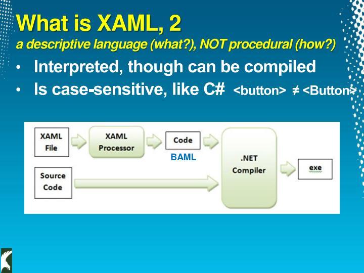 What is XAML, 2