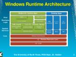 windows runtime architecture
