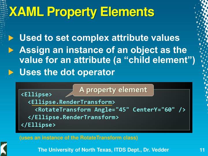 XAML Property Elements
