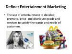 define entertainment marketing