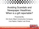 avoiding scandals and newspaper headlines when is a gift reportable