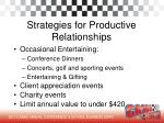 strategies for productive relationships2