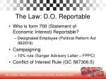 the law d o reportable