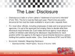 the law disclosure