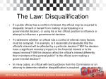 the law disqualification