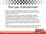 the law entertainment