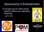 sponsorship in entertainment