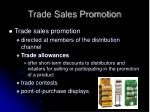 trade sales promotion