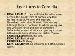 lear turns to cordelia