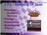 4 p s marketing of sport