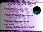 sports industry growth