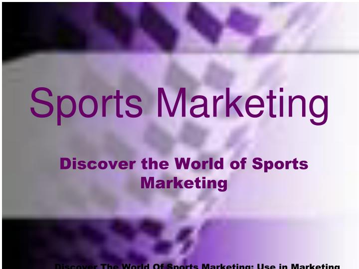 sports marketing n.