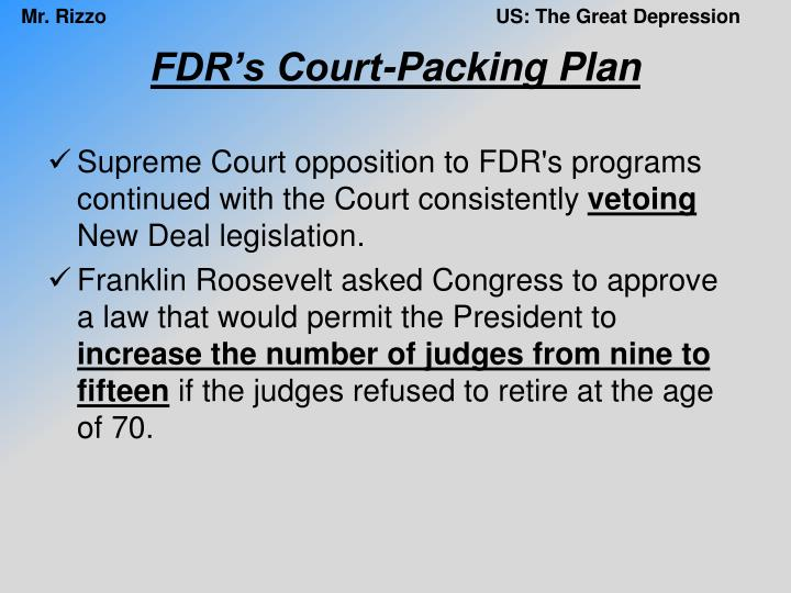 FDR's Court-Packing Plan