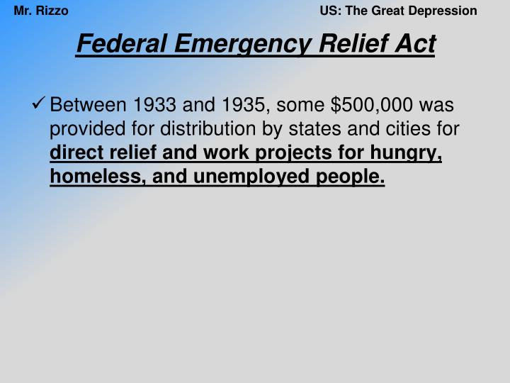 Federal Emergency Relief Act