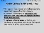 home owners loan corp 1933