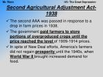 second agricultural adjustment act 1938