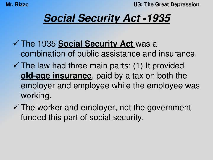 Social Security Act -1935