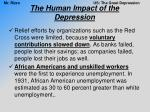 the human impact of the depression1