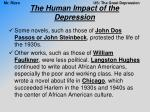 the human impact of the depression13