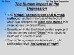 the human impact of the depression7