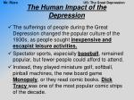 the human impact of the depression8