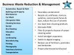business waste reduction management