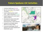 future spokane lsc activities