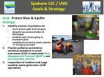 spokane lsc uwi goals strategy