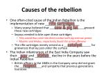 causes of the rebellion