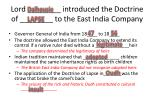 lord introduced the doctrine of to the east india company
