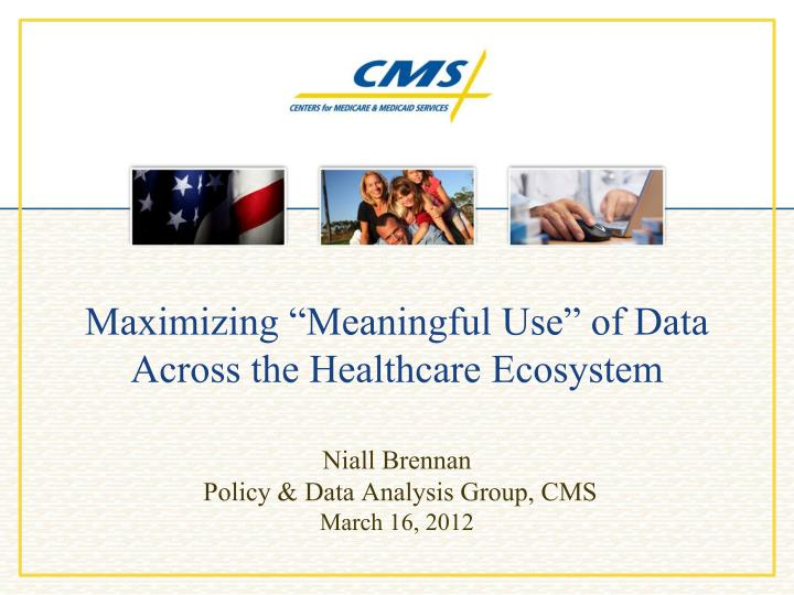 maximizing meaningful use of data across the healthcare ecosystem n.
