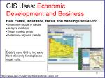 gis uses economic development and business