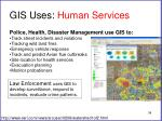 gis uses human services