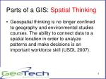 parts of a gis spatial thinking