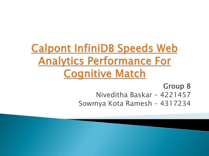 calpont infinidb speeds web analytics performance for cognitive match n.