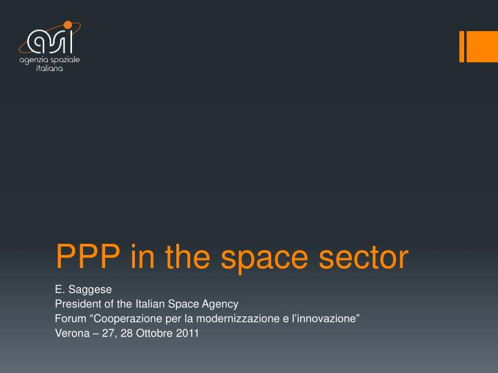 ppp in the space sector n.