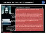 and nasa has been hacked repeatedly