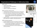 organizational challenges to addressing cyber